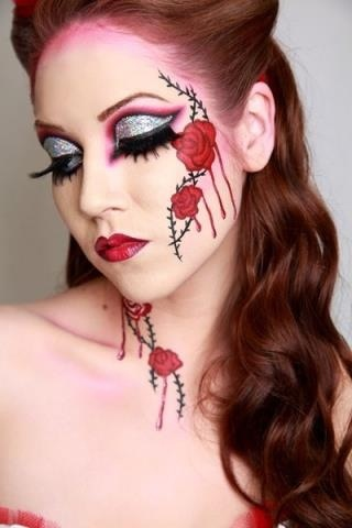 Roses: Heart Costumes, Fantasy Makeup, Alice In Wonderland Make Up, Body Art, Makeup Ideas, Queens Of Heart, Face Painting, Eye, Halloween