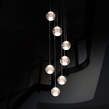 UMEI™ Modern Pendant Lights Pendant Lamp G4 Retroifit 7 Lights Chrome Plating Crystal for Dining Room Stairs Light 2016 - $271.99