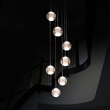 umei ™ moderne anheng lys taklampe g4 retroifit 7 lyser forkromming krystall for spisestue trapper lys 4259163 2016 – kr.2.383