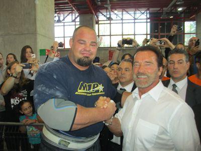 Brian Shaw and Arnold Schwarzenegger