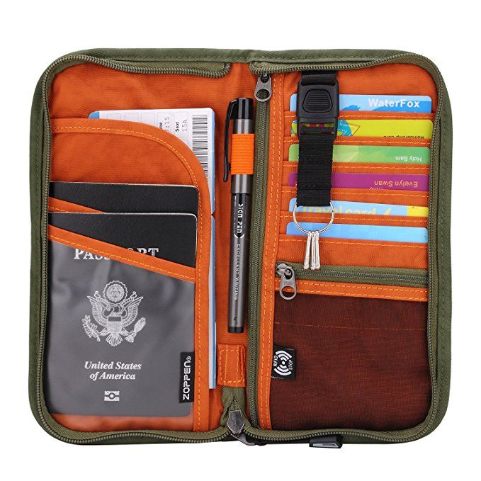 Ashing Girl Travel Passport /& Document Organizer Zipper Case