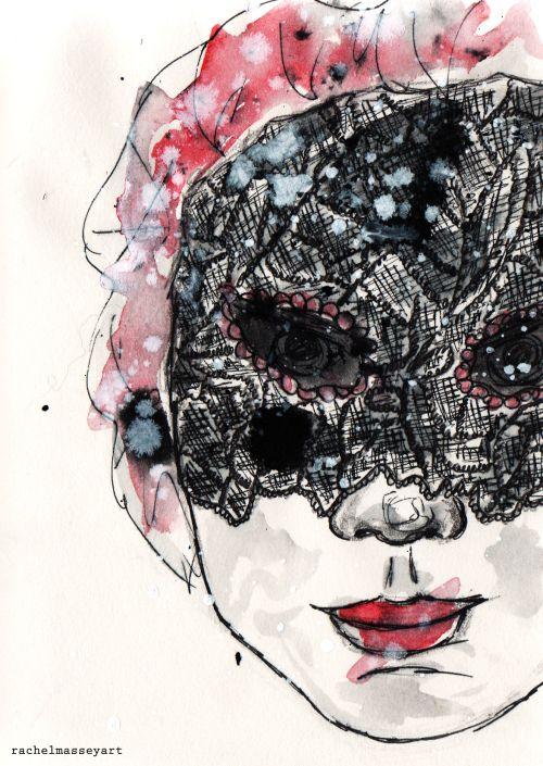 Inktober #18 | Mask