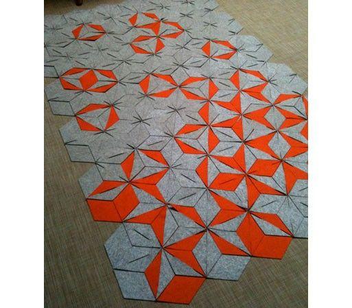 "Amazing interlocking handmade felt hug!  ""apparently Portland designer Aurelie…"