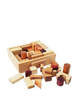 32% OFF Soopsori 66-Piece All Natural Wooden Blocks