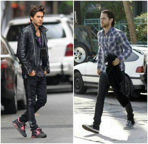 oufit Jared Leto street style