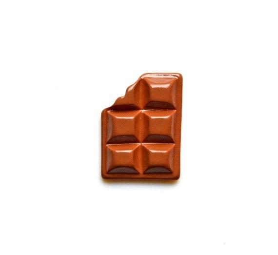 Chocolate Bar Lapel Pin Gift Box Included Guaranteed by Mancornas, $16.75