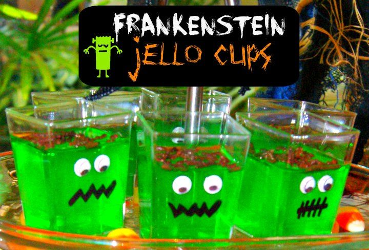 Halloween Kid's Party Food - Jello Monster