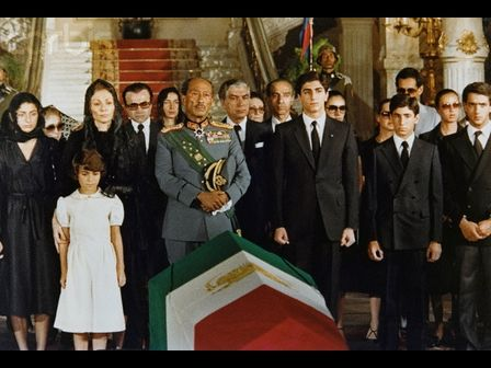 The Shah served as monarch for 37 years and was preceeded by his Father Reza Shah (styled Reza Shah the Great) who established the Pahlavi Dynasty in 1925. It was during Reza Shah's reign that Persia was renamed Iran in 1935. The Shah died on July 27th, 1980 in Cairo, Egypt. This is the footage from his funeral. President Sadat and the Iranian Royal Family followed the procession. Also present President Nixon and Ex King Constantine of Greece.