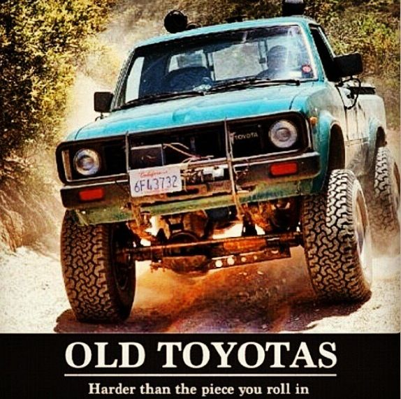Proud owner of a 1st gen Toyota pick up :)