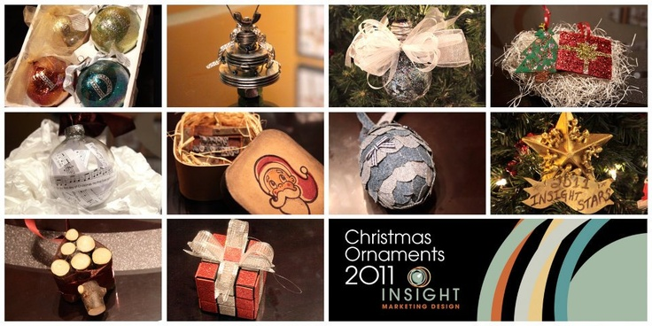 Our team designed these Christmas ornaments.