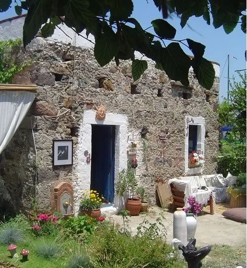 Typical house of the Bodrum from Yalikavak Bodrum, Turkey