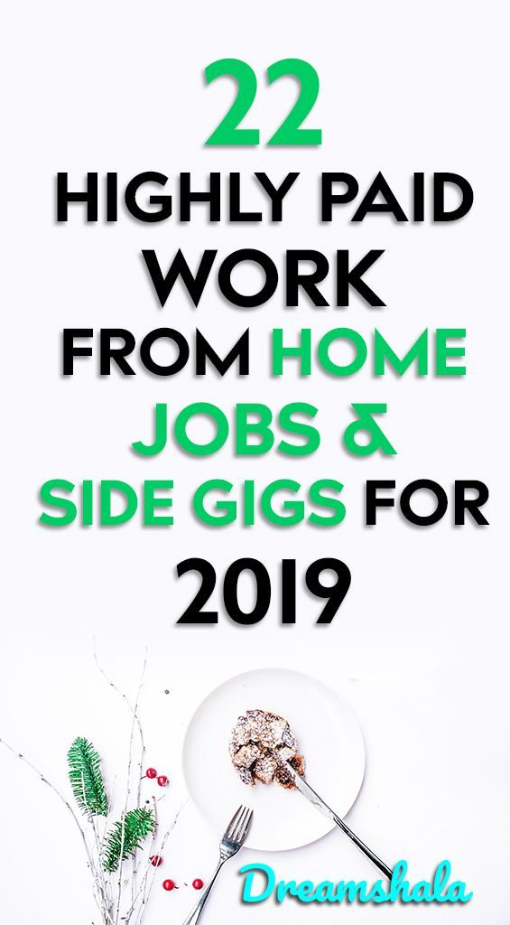 22 highly paid work from home jobs & side gigs for…