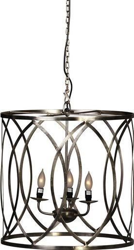 Chandelier pendant dovetail fulton 3 light nickel steel new dt 331
