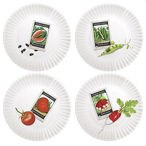 "Garden Seed Packets 7.5"" Melamine Plates, Set of 4 One Hundred 80 Degrees http://www.amazon.com/dp/B00U38RZKM/ref=cm_sw_r_pi_dp_gLhgvb0MK2BA0"