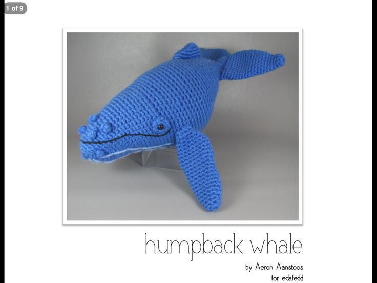 Page 1 of crochet humpback whale pattern *not my pattern