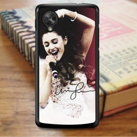 Ariana Grande Singer Red Pink Nexus 5 Case