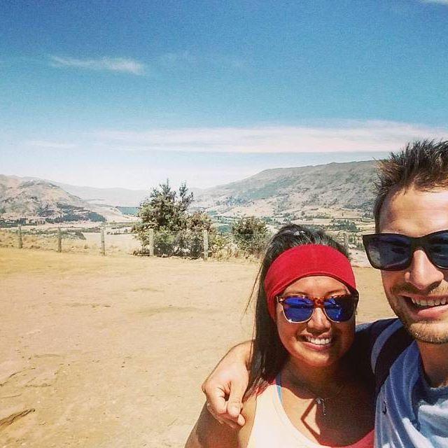 The view is beautiful - the sun is deadly.  #sohot #sweatyselfie #wanaka #mtiron #theadventuresofjoandjake #wearsunscreen #hike #outdoors #newzealand