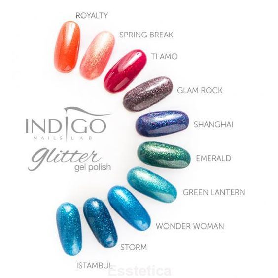 Indigo Glitter Gel Polish