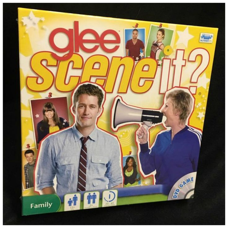 SCENE IT GLEE DVD BOARD GAME SING IT ACT IT SAY IT NEW & SEALED PUZZLES TRIVIA