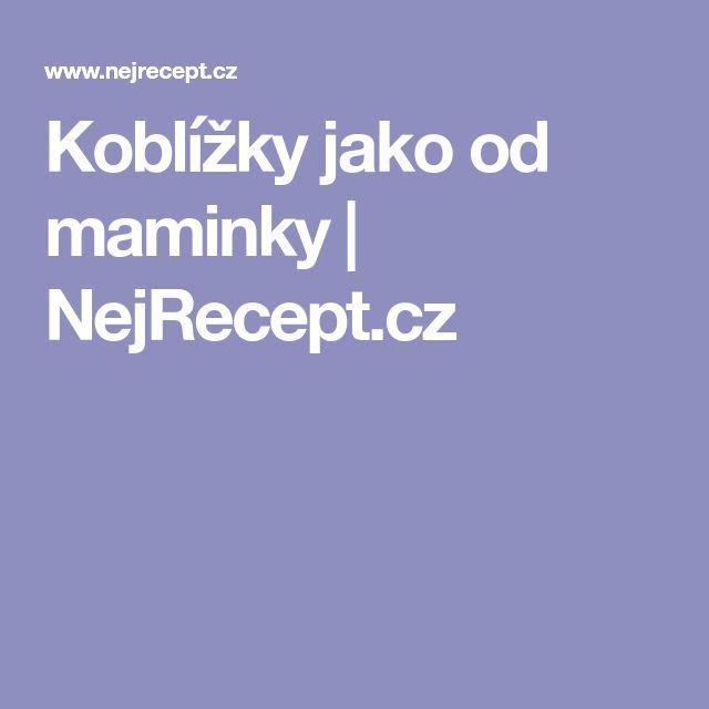 Koblížky jako od maminky | NejRecept.cz