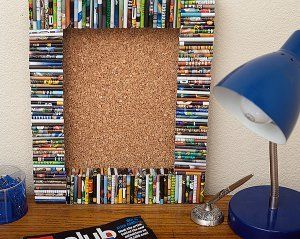 Recycled Magazine Cork Board Could also use foamboard built up sides to make a shadow box.