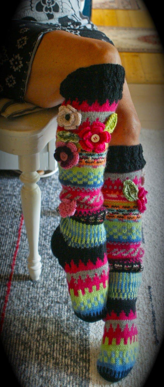 Knitting Patterns For Funky Socks : 428 best images about Funky Socks on Pinterest Fair ...