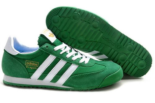 Adidas Originals Dragon Running Shoes Men Green White New