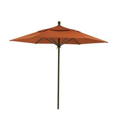 Tropitone Portofino 8' Market Umbrella Fabric: Rutgers, Frame Finish: Snow, Opening Mechanism: Pulley