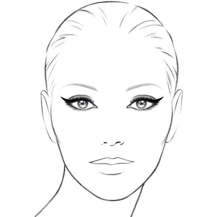 Картинки для макияжа на бумаге