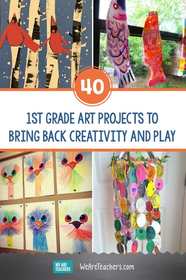 40 Amazing 1st Grade Art Projects To Bring Back Creativity And Play In 2020 Homeschool Art Projects Classroom Art Projects School Art Projects