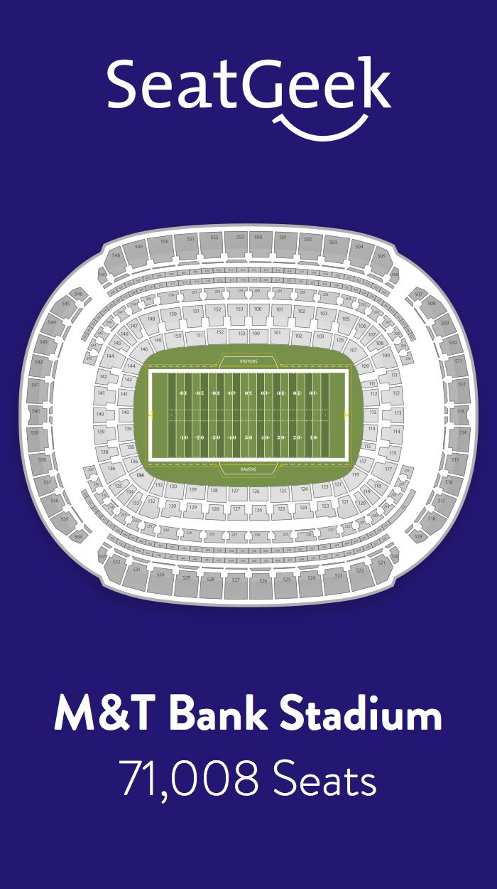 Find the best deals on Baltimore Ravens tickets and know exactly where you'll sit with SeatGeek.