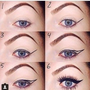 perfect winged eyeliner #makeup