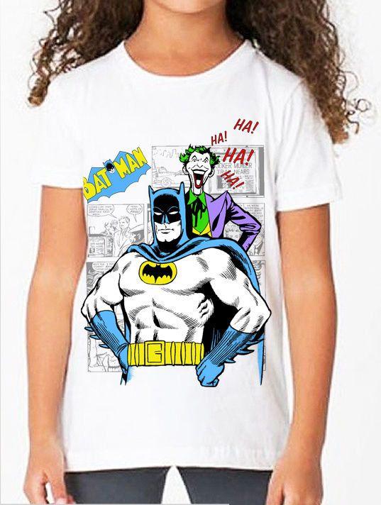 Batman: Classic Batman & Joker Comic Book Children's T Shirt