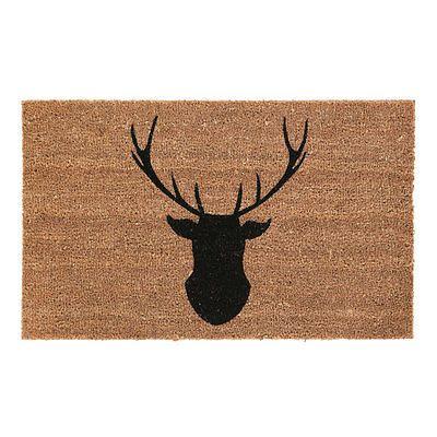 Large Anti Slip Outside Entrance Floor PVC Doormats Natural Coir Front Door Mats