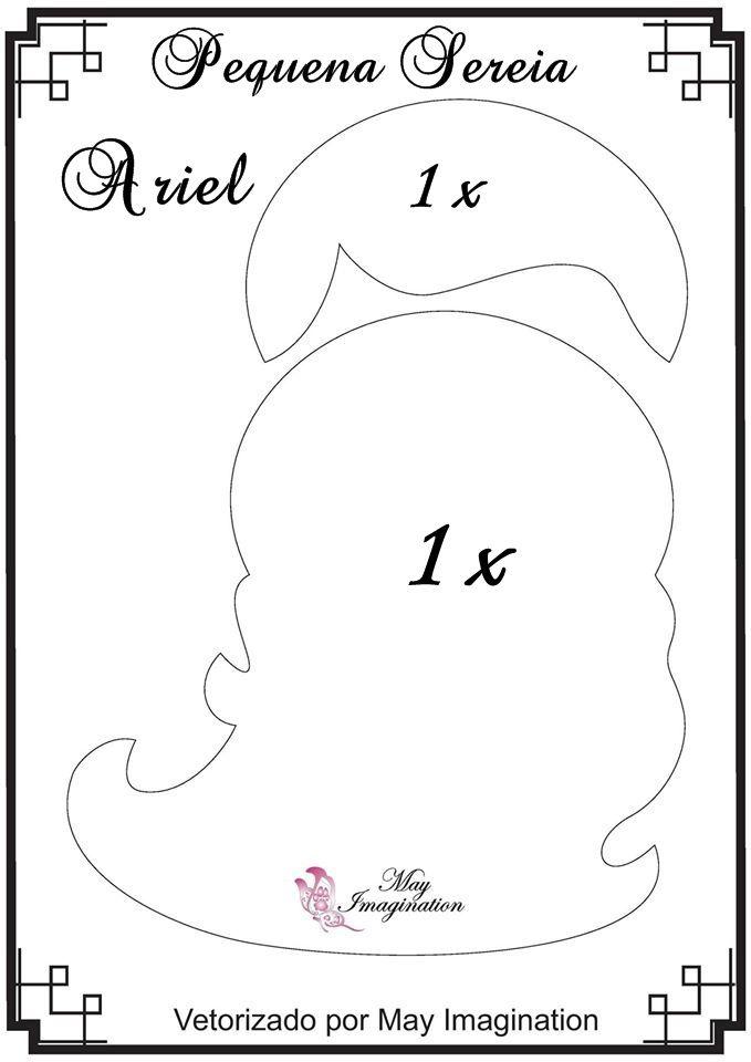 Molde Pequena Sereia Ariel: Cabelo e Franja.