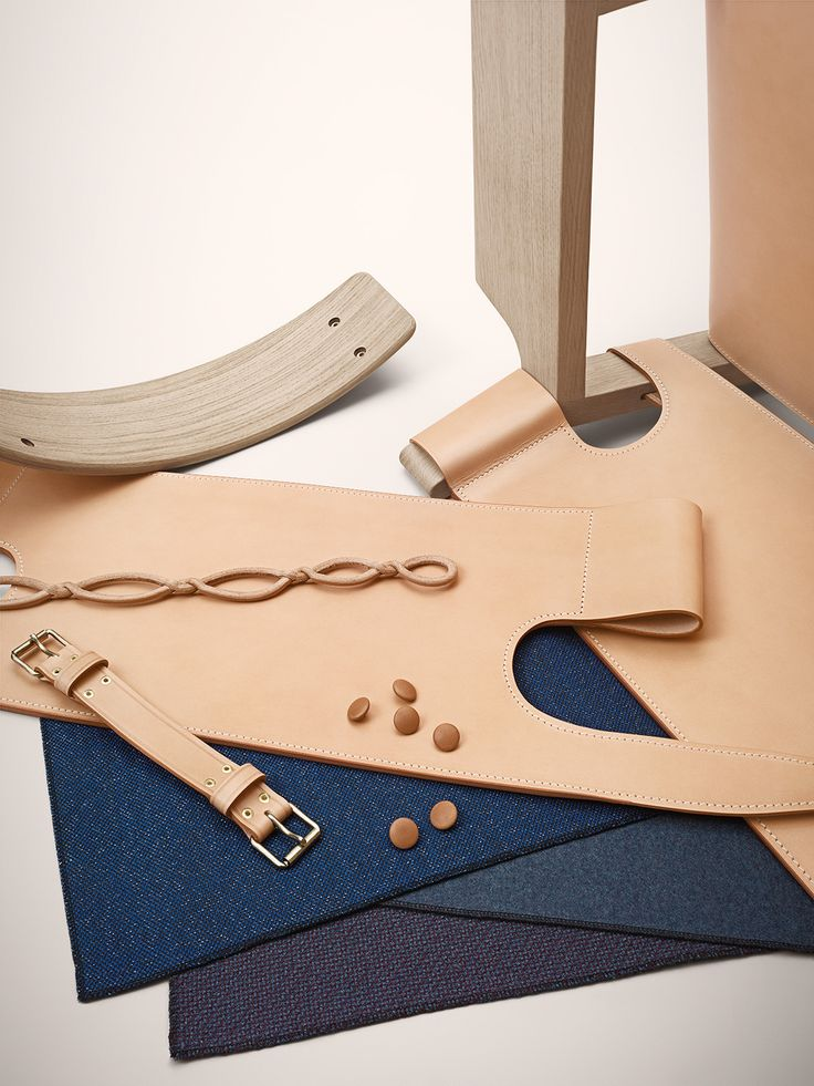 Saddle leather, fabrics, oak and other bits and pieces from our products. Image by Frederik Lindstrøm Studio#fredericiafurniture #amodernoriginal #designcraft #danishdesign #danskdesign #borgemogensen #børgemogensen #craftsmanship #behindthescenes #howitsmade
