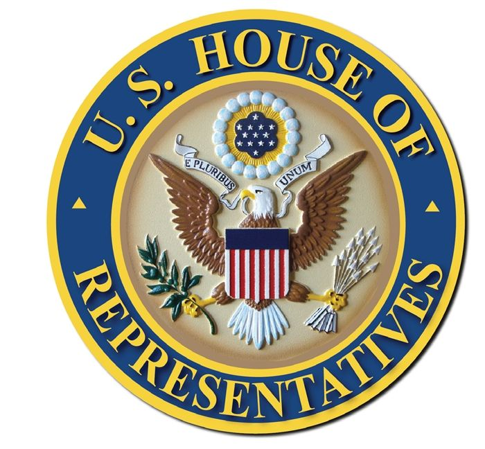 Ap 2040 Carved Plaque Of The Seal Of The Us House Of Representatives Artist Painted Plaque Artist Paint Text Art