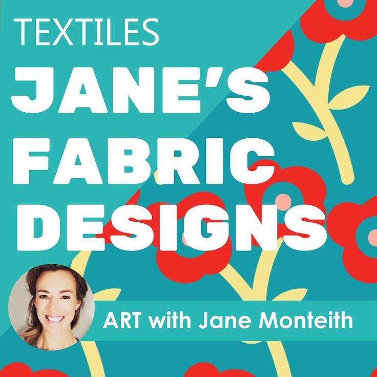 Pretty fabric coordinates created by Jane Monteith