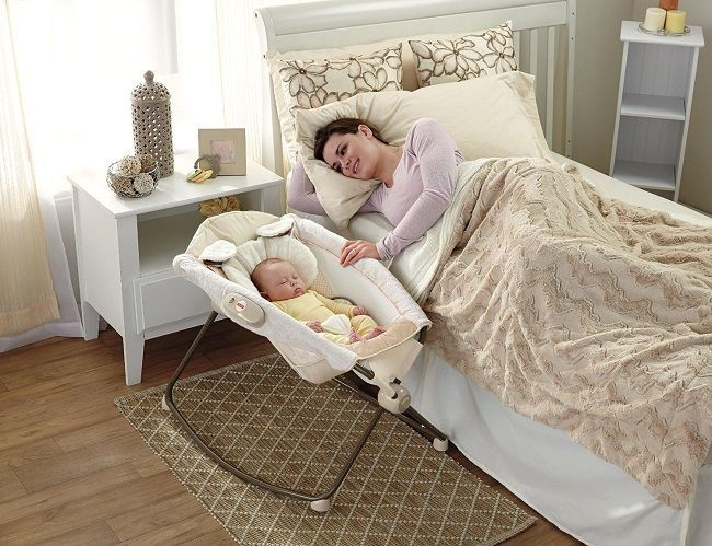 Baby Bedside Sleeper Inclined Rocker Vibrating Portable Bassinet Snugapuppy…                                                                                                                                                                                 More