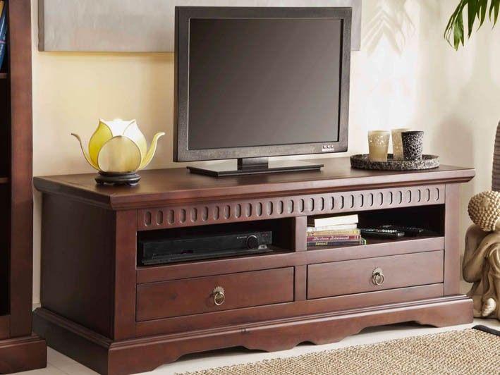 tv unterschrank alicante pinie vollmassiv dunkelbraun gebeizt alicante serie. Black Bedroom Furniture Sets. Home Design Ideas