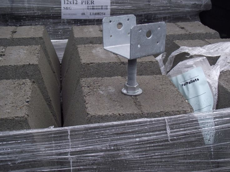 12 Quot Pier Block With 4x4 Hot Dipped Galvanized Adjustable
