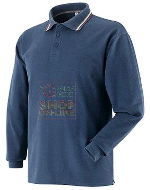 MAGLIETTA POLO MANICA LUNGA CON RIGHE TRICOLORE DI COTONE PETTINATO COLORE BLU TG. DA S A XXL https://www.chiaradecaria.it/it/magliette/10388-maglietta-polo-manica-lunga-con-righe-tricolore-di-cotone-pettinato-colore-blu-tg-da-s-a-xxl.html