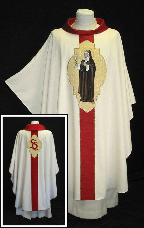 Saint Clare Custom Tapestry Chasuble