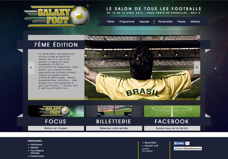 Site web du salon Galaxy Foot #football #paris (Design/Dev by 76)