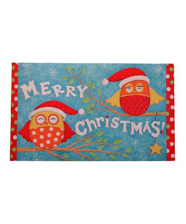 Look at this #zulilyfind! Christmas Owls Doormat #zulilyfinds