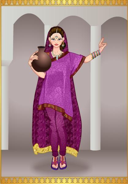 Princesa Arabella en traje Indu