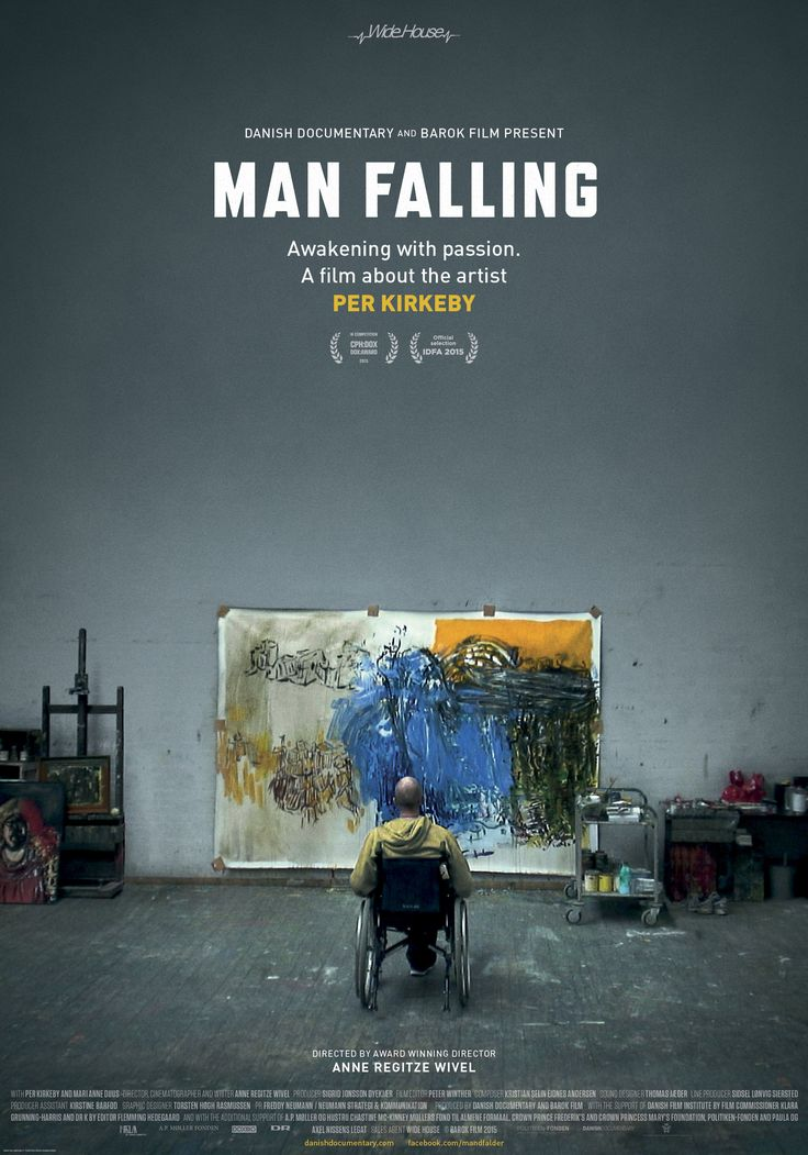 Man Falling  A film by Anne Regitze Wivel  A brain injury after a fall forces Per Kirkeby - one of Denmark's most famous artists - to stop painting. In an instant, Kirkeby loses his life's foundation as well as his ability to work. No longer able to see colors, he cannot orient himself in the large canvases that made him a figurehead for Danish and international contemporary art. - See more at: http://widehouse.org/film/man-falling/#sthash.9TgAXZeF.dpuf
