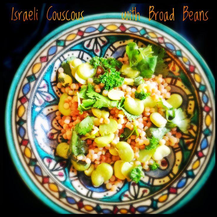Mograbieh Pilaf with Broad Beans | Israeli Couscous Pilaf with Broad Beans