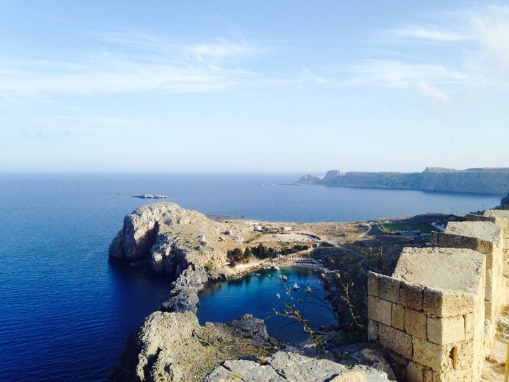 Amazing view from the acropolis of Lindos.