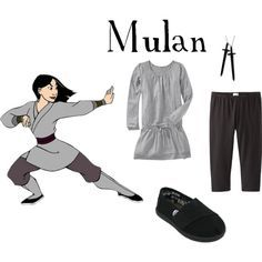 mulan outfits for girls | Mulan Warrior Inspired Casual Girl Outfit